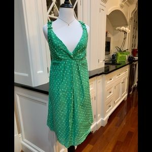 Nine West Kelly Green Dotted Summer☀️Dress Size 12